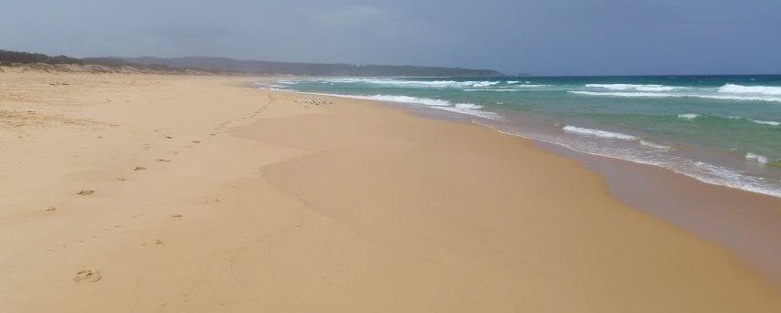 Bournda Beach car park to Beach