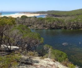 Bournda Lagoon via North Tura Lookout