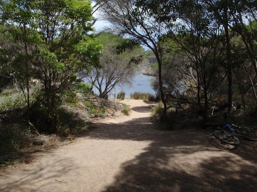 Hobart Beach camping area to Bournda Lagoon