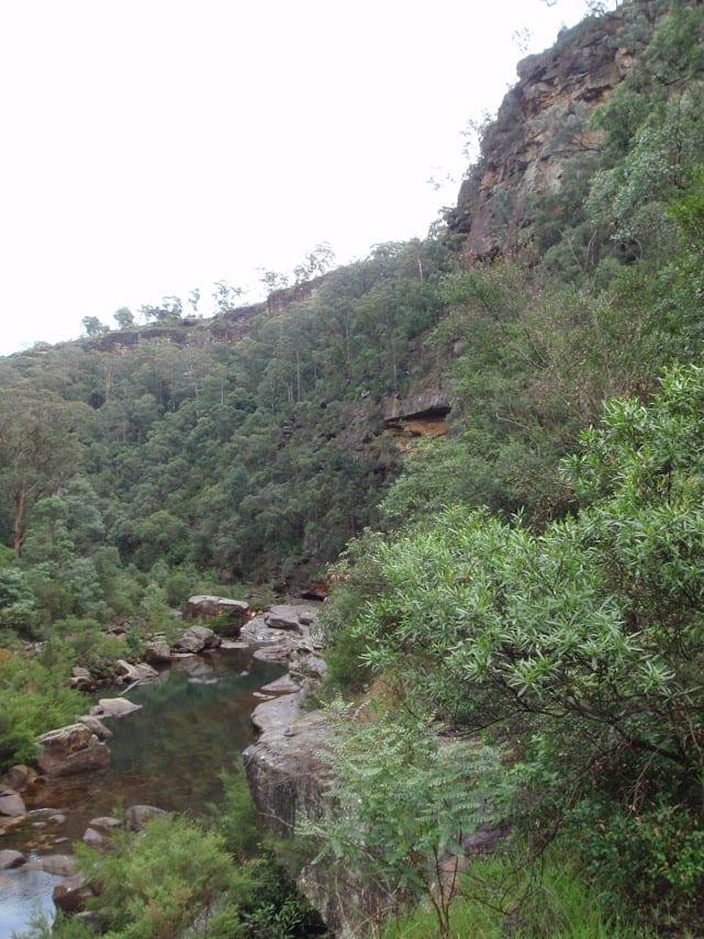 Lapstone to end of Glenbrook Gorge