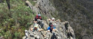 rock scrambling trail hiking australia