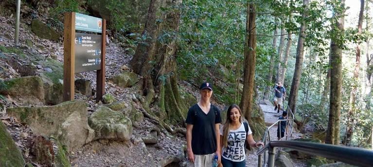 Echo Point to Scenic World via Giant Stairway Trail Hiking Australia