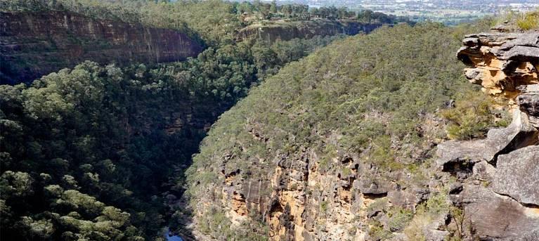 Glenbrook Gorge track Trail Hiking Australia
