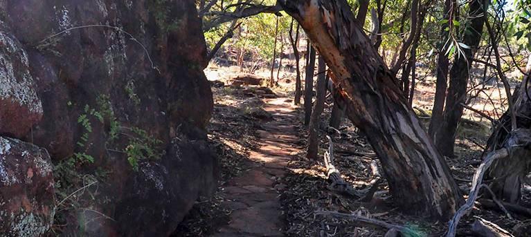 Mount Grenfell art site walk Trail Hiking Australia