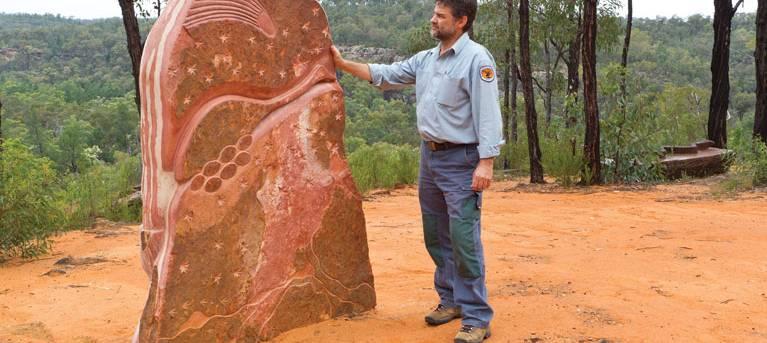 Sculptures in the Scrub walking track Trail Hiking Australia