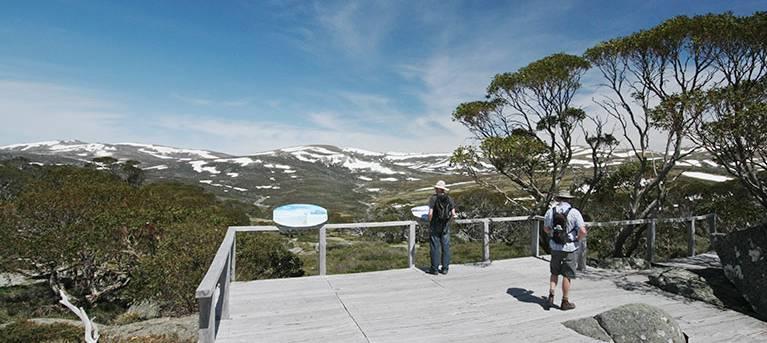 Snow Gums boardwalk Trail Hiking Australia