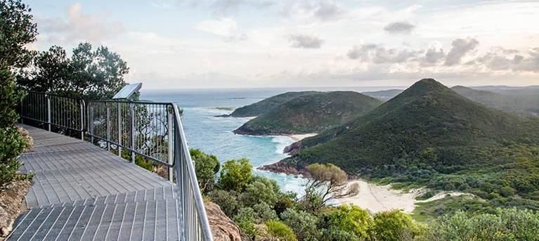Tomaree Head Summit walk Trail Hiking Australia