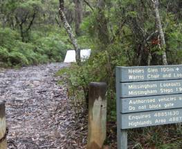 Warris Chair lookout track Trail Hiking Australia