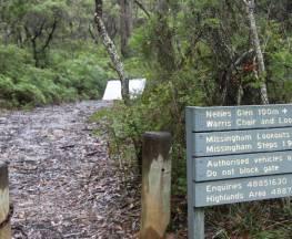 Warris Chair lookout track Trail Hiking Australia