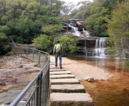 Wentworth Falls track Trail Hiking Australia